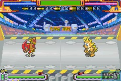 In-game screen of the game Gachasute! Dino Device 2 - Phoenix on Nintendo GameBoy Advance