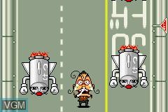 In-game screen of the game Zettaizetsumei Dangerous Jiisan - Naki no 1-kai - Zettaifukujuu Violence Kouchou - Wagahai ga 1-ban Erainjai!! on Nintendo GameBoy Advance