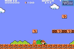 In-game screen of the game Classic NES Series - Super Mario Bros. on Nintendo GameBoy Advance