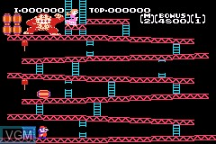 In-game screen of the game Classic NES Series - Donkey Kong on Nintendo GameBoy Advance