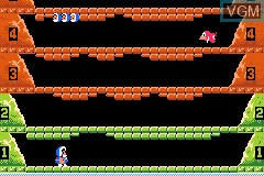 In-game screen of the game Classic NES Series - Ice Climber on Nintendo GameBoy Advance