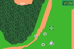 In-game screen of the game Classic NES Series - Xevious on Nintendo GameBoy Advance