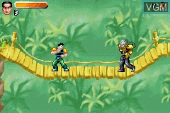 In-game screen of the game Action Man - Robot Atak on Nintendo GameBoy Advance