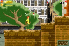 In-game screen of the game Peter Pan - Return to Neverland on Nintendo GameBoy Advance