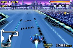 In-game screen of the game F-Zero - Climax on Nintendo GameBoy Advance