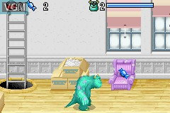 In-game screen of the game 2 Games in 1 - Monstrous SA & Buscando a Nemo on Nintendo GameBoy Advance