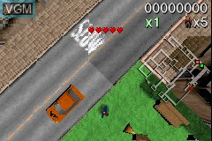In-game screen of the game Payback on Nintendo GameBoy Advance