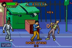 In-game screen of the game Jackie Chan Adventures - Legend of the Dark Hand on Nintendo GameBoy Advance