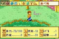 In-game screen of the game Kawa no Nushi Tsuri 5 - Fushigi no Mori kara on Nintendo GameBoy Advance