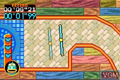 In-game screen of the game Kurukuru Kururin on Nintendo GameBoy Advance