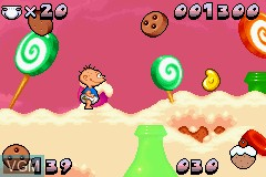 In-game screen of the game Rugrats - Castle Capers on Nintendo GameBoy Advance