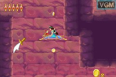 In-game screen of the game 2 Games in 1 - Disney Princess & Lizzie McGuire on Nintendo GameBoy Advance