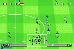In-game screen of the game Ui-Ire - World Soccer Winning Eleven on Nintendo GameBoy Advance
