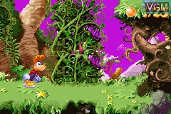 In-game screen of the game Rayman 10th Anniversary - Rayman Advance & Rayman 3 on Nintendo GameBoy Advance