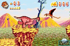 In-game screen of the game Land Before Time, The - Into the Mysterious Beyond on Nintendo GameBoy Advance