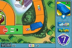 In-game screen of the game 3 Game Pack! - The Game of Life + Payday + Yahtzee on Nintendo GameBoy Advance