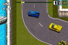 In-game screen of the game Racing Fever on Nintendo GameBoy Advance
