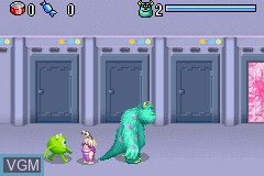 In-game screen of the game 2 Games in 1 - Monsters, Inc. + Finding Nemo on Nintendo GameBoy Advance