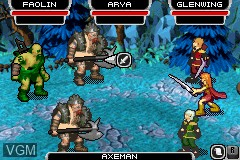 In-game screen of the game Eragon on Nintendo GameBoy Advance