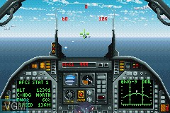 In-game screen of the game F24 Stealth Fighter on Nintendo GameBoy Advance