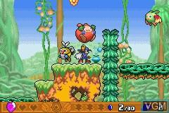 In-game screen of the game Kaze no Klonoa G2 - Dream Champ Tournament on Nintendo GameBoy Advance