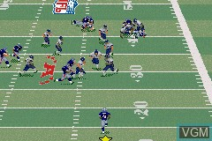 In-game screen of the game Madden NFL 2003 on Nintendo GameBoy Advance
