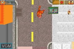 In-game screen of the game Urban Yeti on Nintendo GameBoy Advance