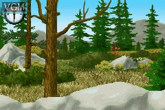 In-game screen of the game Cabela's Big Game Hunter on Nintendo GameBoy Advance