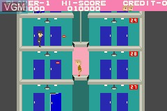 In-game screen of the game Elevator Action - Old & New on Nintendo GameBoy Advance