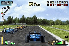 In-game screen of the game F1 2002 on Nintendo GameBoy Advance