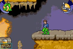 In-game screen of the game Galidor - Defenders of the Outer Dimension on Nintendo GameBoy Advance