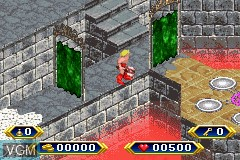 In-game screen of the game Gauntlet - Dark Legacy on Nintendo GameBoy Advance