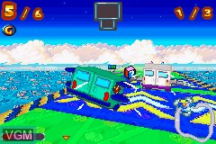 In-game screen of the game Inspector Gadget Racing on Nintendo GameBoy Advance
