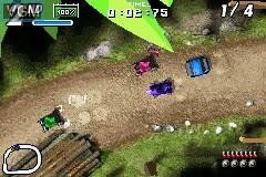 In-game screen of the game Karnaaj Rally on Nintendo GameBoy Advance