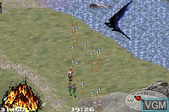 In-game screen of the game Reign of Fire on Nintendo GameBoy Advance