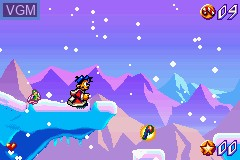 In-game screen of the game Santa Claus Jr. Advance on Nintendo GameBoy Advance