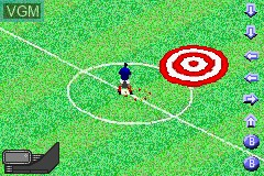 In-game screen of the game Zidane Football Generation 2002 on Nintendo GameBoy Advance