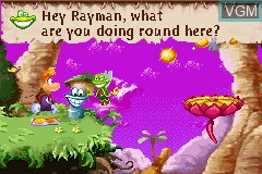 In-game screen of the game Rayman 3 on Nintendo GameBoy Advance