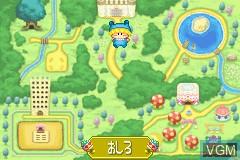 In-game screen of the game Wagamama Fairy Mirumo de Pon! - Ougon Maracas no Densetsu on Nintendo GameBoy Advance