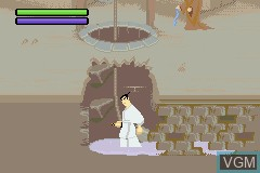 In-game screen of the game Samurai Jack - The Amulet of Time on Nintendo GameBoy Advance