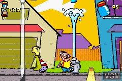 In-game screen of the game Ed, Edd n Eddy - Jawbreakers! on Nintendo GameBoy Advance