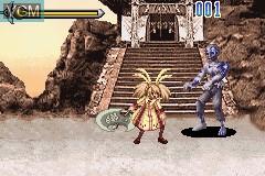 In-game screen of the game Dancing Sword - Senkou on Nintendo GameBoy Advance