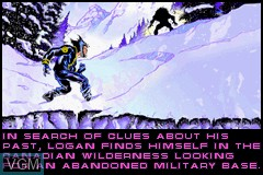 In-game screen of the game X2 - Wolverine's Revenge on Nintendo GameBoy Advance