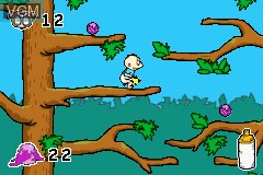 In-game screen of the game Rugrats - Go Wild on Nintendo GameBoy Advance