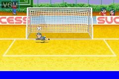 In-game screen of the game Zen-Nihon Shounen Soccer Taikai 2 - Mezase Nihon-ichi! on Nintendo GameBoy Advance