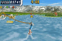 In-game screen of the game Wakeboarding Unleashed Featuring Shaun Murray on Nintendo GameBoy Advance