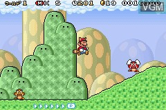 In-game screen of the game Super Mario Advance 4 - Super Mario Bros. 3 on Nintendo GameBoy Advance