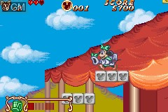 In-game screen of the game Magical Quest 2 Starring Mickey & Minnie on Nintendo GameBoy Advance