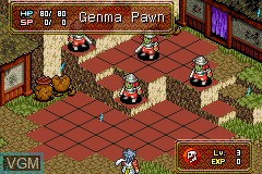 In-game screen of the game Onimusha Tactics on Nintendo GameBoy Advance