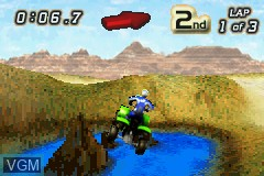 In-game screen of the game Quad Desert Fury on Nintendo GameBoy Advance